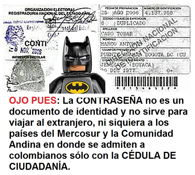 Contraseña colombiana