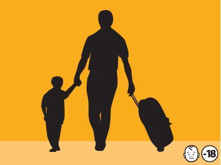 un niño no es una maleta; ayúdanos a defender sus derechos. Diseño del DAS en su promoción del Código de la Infancia y la Adolescencia.