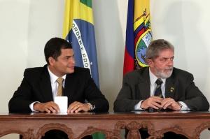 Presidentes Rafael Correa y Lula da Silva. Foto de la Presidencia de Ecuador.