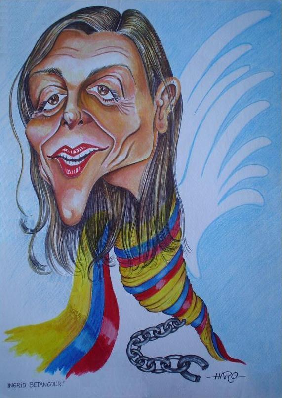 ingrid-betancourt     La lider politica Ingrid Betancourt, excandidata presidencial en las elecciones de 2002, fue secuestrada por las Farc y retenida hasta que una operación militar del Ejército de Colombia la rescató en julio de 2008. Su cautiverio contribuyó a llamar la atención internacional sobre el drama del secuestro politico en Colombia.