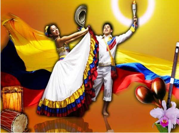 Representación de la cumbia por el Grupo Danza Colombia de Juan Rúa.