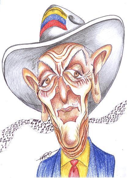 El maestro Escalona visto por el maestro uruguayo de la caricatura, Luis Haro.