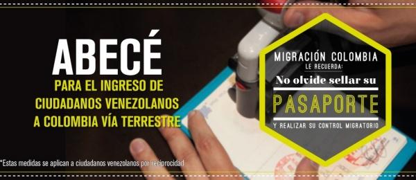 ABC para venezolanos ingresando a Colombia