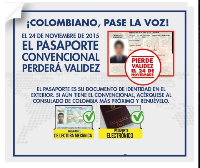 pasaporte colombiano convencional