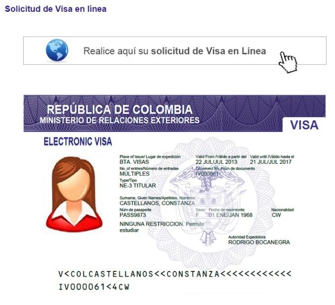 Solicitud de visa en línea