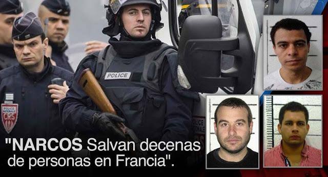 narcos colombianos salvan vidas en Francia