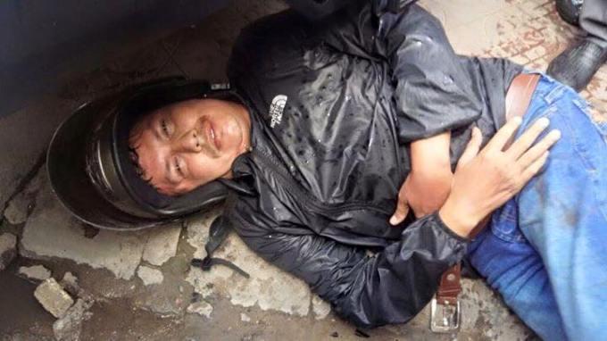 El sospechoso fue identificado como José Alonso y tenía un pasaporte colombiano, aunque los primeros medios decían que era filipino. Foto cortesía Khmer440.com