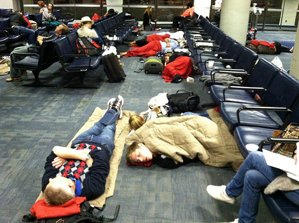 sleeping-over-airport