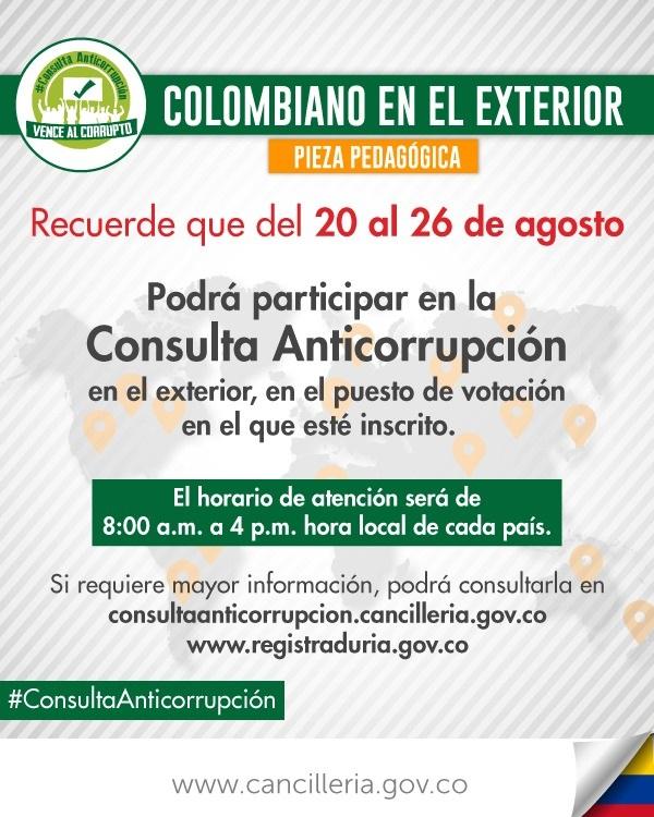 Consulta anticorrupción para ciudadanos en el exterior